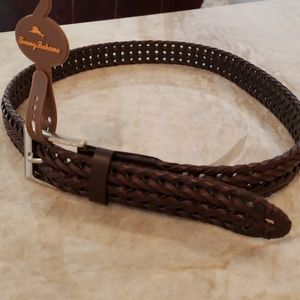 Tommy Bahama Brown Leather belt sz 34-36